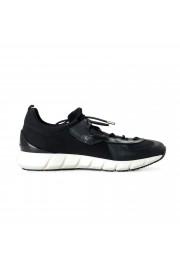"Salvatore Ferragamo Men's ""ALPE"" Black Canvas Leather Fashion Sneakers Shoes: Picture 4"