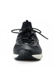 "Salvatore Ferragamo Men's ""ALPE"" Black Canvas Leather Fashion Sneakers Shoes: Picture 5"