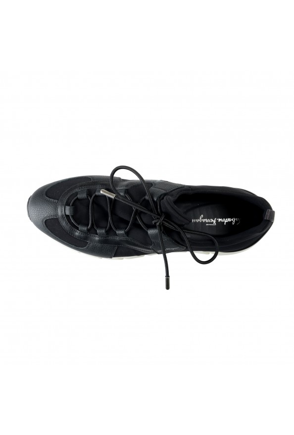 "Salvatore Ferragamo Men's ""ALPE"" Black Canvas Leather Fashion Sneakers Shoes: Picture 7"