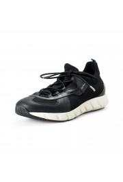 "Salvatore Ferragamo Men's ""ALPE"" Black Canvas Leather Fashion Sneakers Shoes"