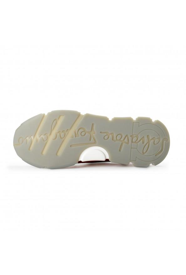 "Salvatore Ferragamo Men's ""BOOSTER8"" Canvas Leather Fashion Sneakers Shoes: Picture 6"