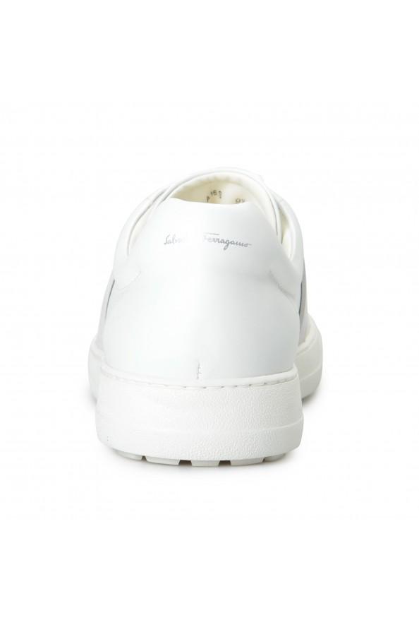 "Salvatore Ferragamo Men's ""CULT"" Leather Fashion Sneakers Shoes: Picture 3"