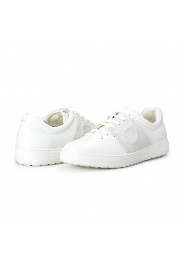"Salvatore Ferragamo Men's ""CULT"" Leather Fashion Sneakers Shoes: Picture 8"
