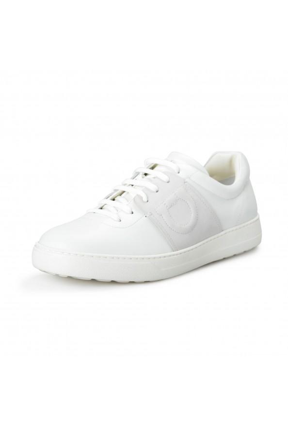 "Salvatore Ferragamo Men's ""CULT"" Leather Fashion Sneakers Shoes"