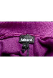 Just Cavalli Women's Purple Embellished Velour Sweatshirt : Picture 7