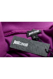 Just Cavalli Women's Purple Embellished Velour Sweatshirt : Picture 8