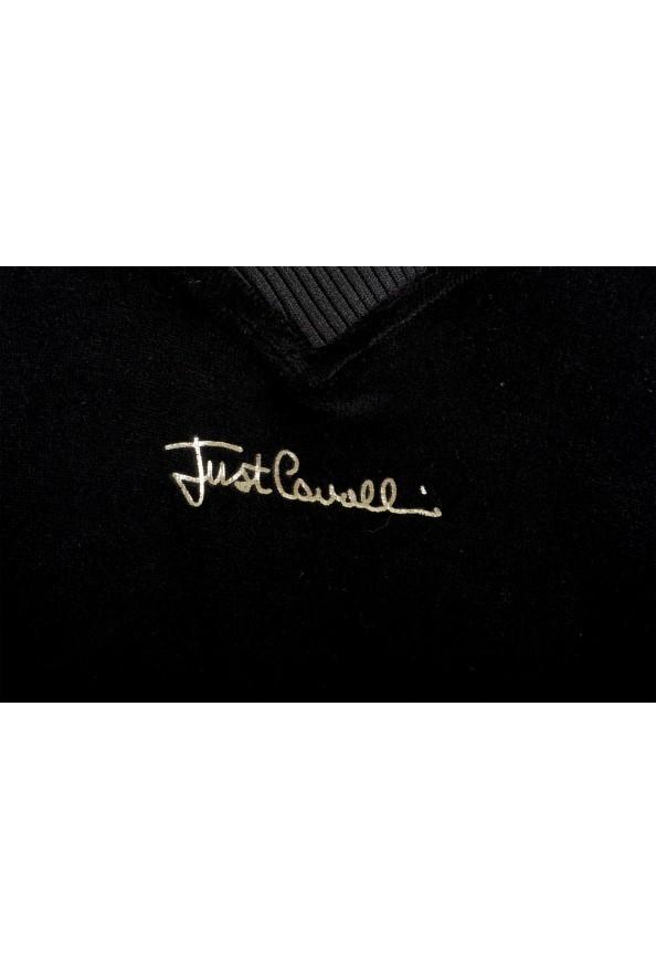 Just Cavalli Women's Black Embellished Velour Sweatshirt: Picture 5