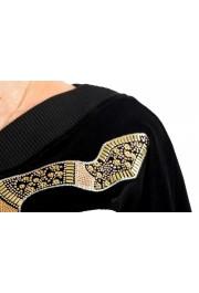 Just Cavalli Women's Black Embellished Velour Sweatshirt: Picture 6