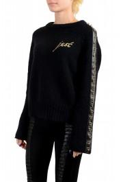 Just Cavalli Women's Black Wool Mohair Crewneck Sweater : Picture 3