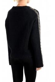 Just Cavalli Women's Black Wool Mohair Crewneck Sweater : Picture 4