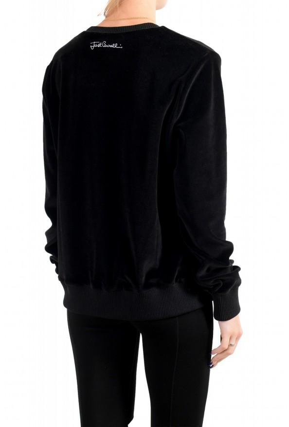 Just Cavalli Women's Black Embellished Velour Sweatshirt : Picture 4