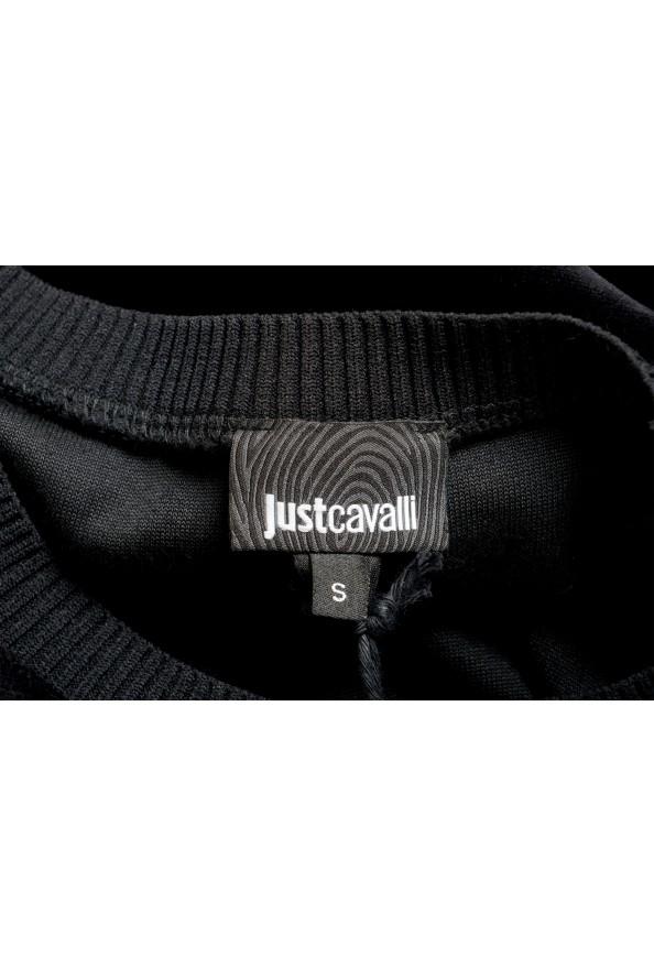 Just Cavalli Women's Black Embellished Velour Sweatshirt : Picture 6