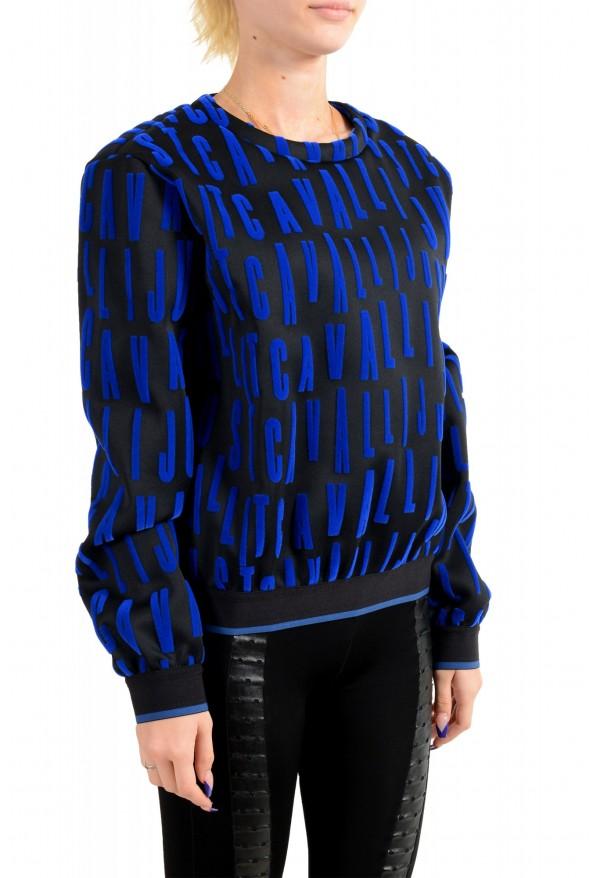 Just Cavalli Women's Black Logo Print Crewneck Sweatshirt: Picture 2