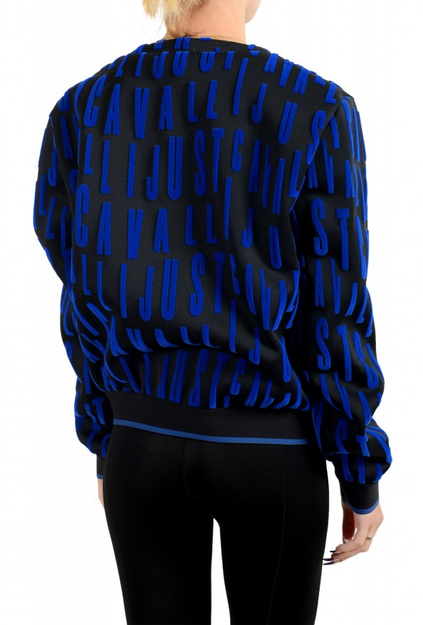 Just Cavalli Women's Black Logo Print Crewneck Sweatshirt: Picture 3