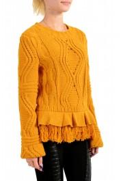 Just Cavalli Women's Mustard Yellow Wool Alpaca Crewneck Sweater : Picture 2