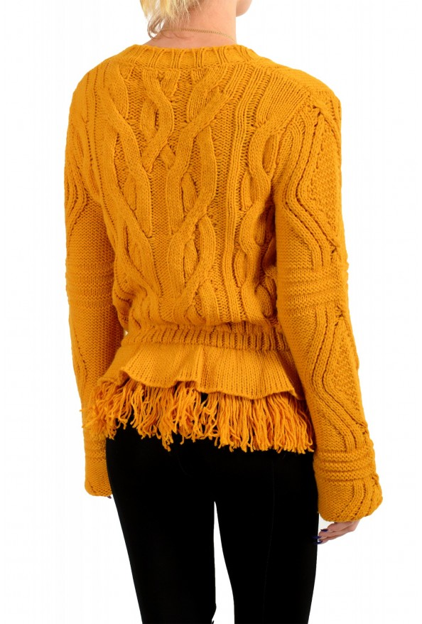 Just Cavalli Women's Mustard Yellow Wool Alpaca Crewneck Sweater : Picture 3