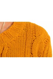 Just Cavalli Women's Mustard Yellow Wool Alpaca Crewneck Sweater : Picture 4