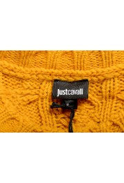 Just Cavalli Women's Mustard Yellow Wool Alpaca Crewneck Sweater : Picture 5