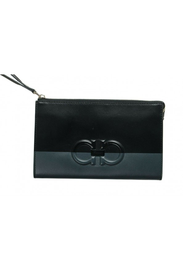 Salvatore Ferragamo Women's Black& Red 100% Leather Wristlet Clutch Bag: Picture 2
