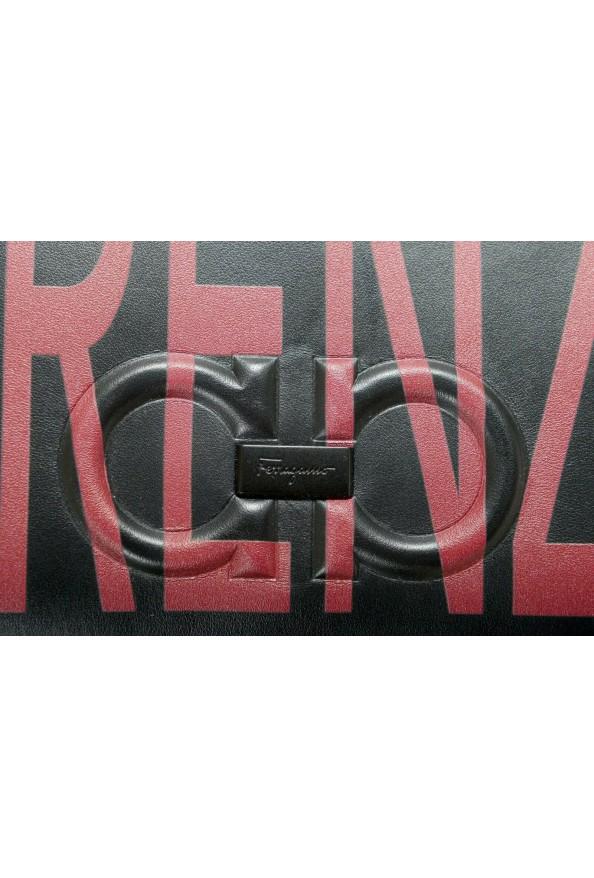 Salvatore Ferragamo Women's Black & Red 100% Leather Wristlet Clutch Bag: Picture 3