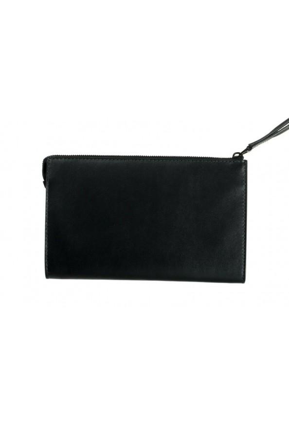 Salvatore Ferragamo Women's Black & Red 100% Leather Wristlet Clutch Bag: Picture 4