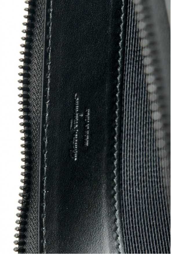 Salvatore Ferragamo Women's Black & Red 100% Leather Wristlet Clutch Bag: Picture 6