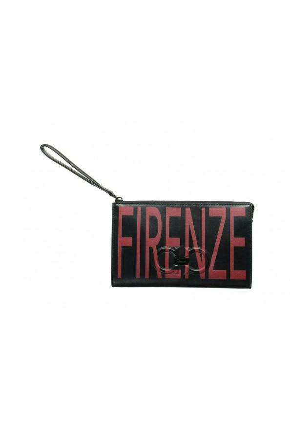 Salvatore Ferragamo Women's Black & Red 100% Leather Wristlet Clutch Bag