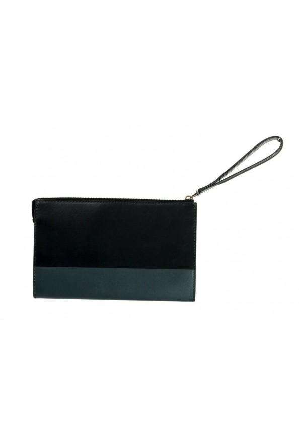 Salvatore Ferragamo Women's Black& Red 100% Leather Wristlet Clutch Bag: Picture 3