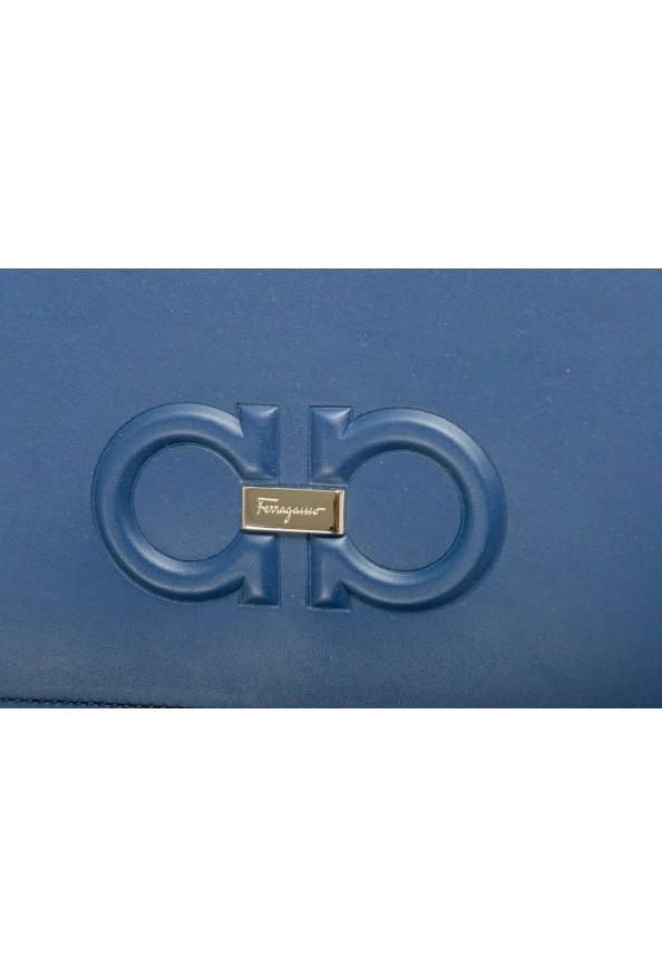 Salvatore Ferragamo Women's Blue 100% Leather Logo Wristlet Clutch Bag: Picture 3