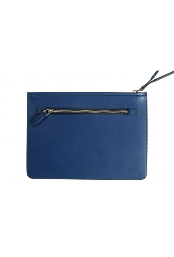 Salvatore Ferragamo Women's Blue 100% Leather Logo Wristlet Clutch Bag: Picture 4