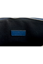 Salvatore Ferragamo Women's Blue 100% Leather Logo Wristlet Clutch Bag: Picture 5