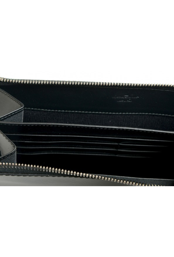 Salvatore Ferragamo Women's Black& Red 100% Leather Wristlet Clutch Bag: Picture 4