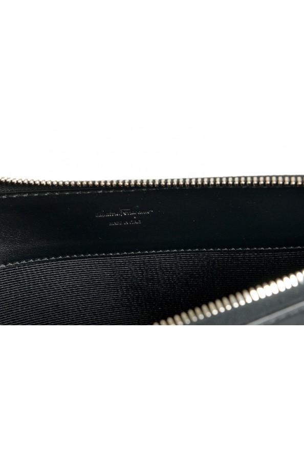 Salvatore Ferragamo Women's Black& Red 100% Leather Wristlet Clutch Bag: Picture 5