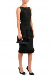 Salvatore Ferragamo Women's Black& Red 100% Leather Wristlet Clutch Bag: Picture 6