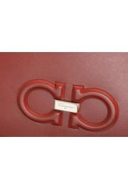 Salvatore Ferragamo Women's Red 100% Leather Logo Wristlet Clutch Bag: Picture 3