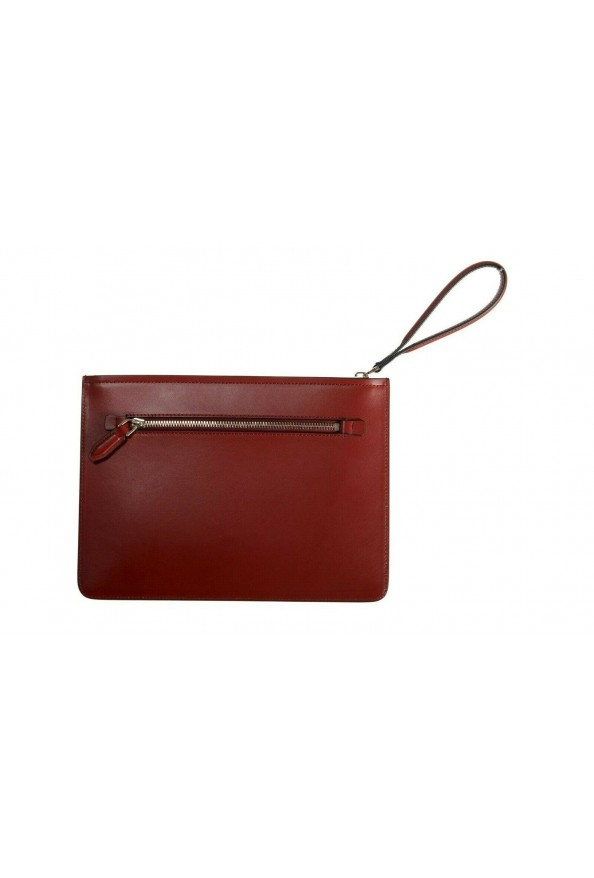 Salvatore Ferragamo Women's Red 100% Leather Logo Wristlet Clutch Bag: Picture 4
