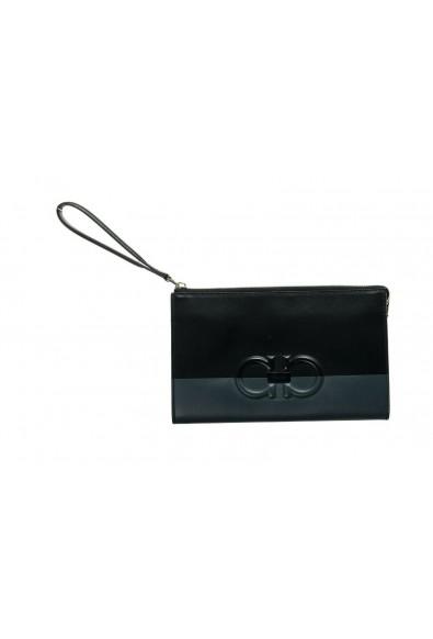 Salvatore Ferragamo Women's Black& Red 100% Leather Wristlet Clutch Bag