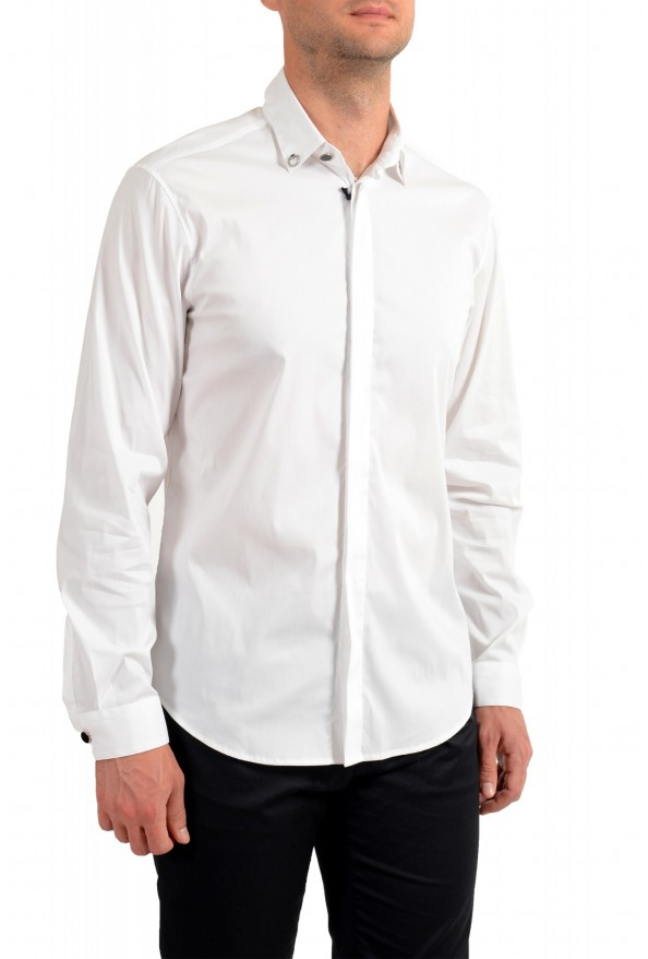 Just Cavalli Men's White Button Down Casual Shirt: Picture 2