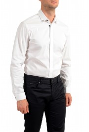 Just Cavalli Men's White Button Down Casual Shirt: Picture 4