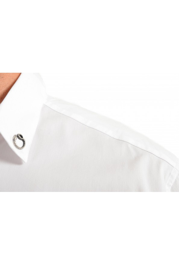 Just Cavalli Men's White Button Down Casual Shirt: Picture 5