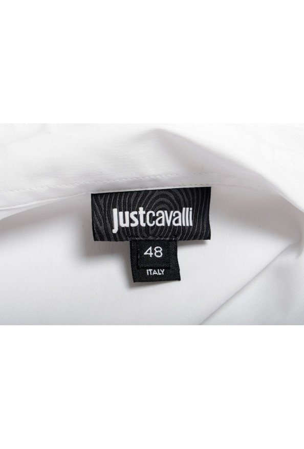 Just Cavalli Men's White Button Down Casual Shirt: Picture 6