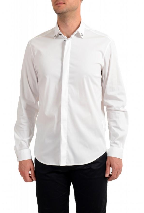 Just Cavalli Men's White Button Down Casual Shirt