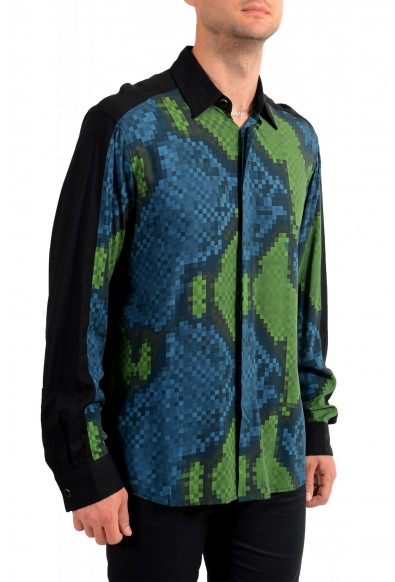 Just Cavalli Men's Multi-Color Button Down Casual Shirt : Picture 2