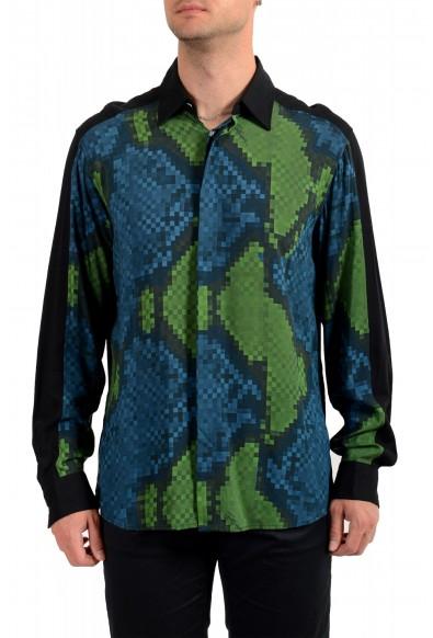 Just Cavalli Men's Multi-Color Button Down Casual Shirt