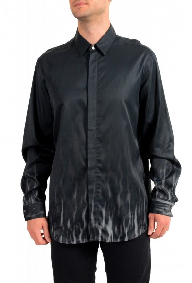 Just Cavalli Men's Button Down Long Sleeve Casual Shirt