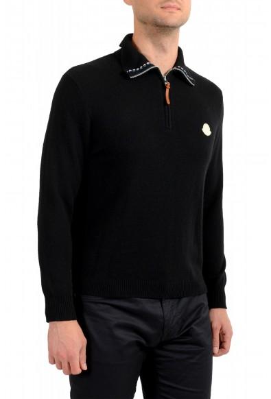 Moncler Men's Black 1/3 Zip Turtleneck Wool Cashmere Sweater : Picture 2
