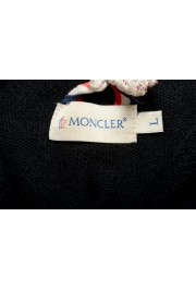 Moncler Men's Black 1/3 Zip Turtleneck Wool Cashmere Sweater : Picture 5
