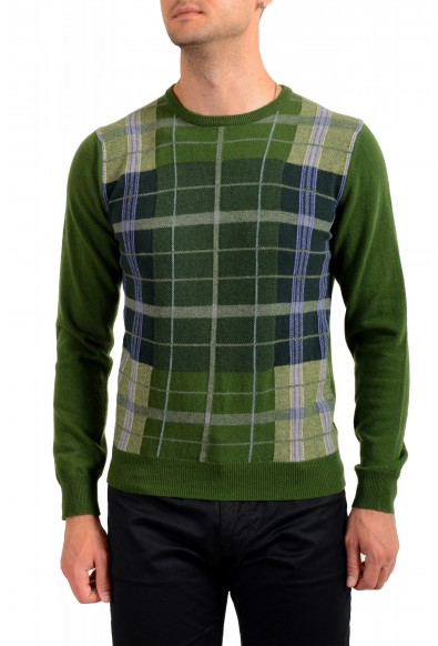 Moncler Men's Multi-Color 100% Wool Crewneck Sweater