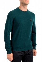 Moncler Men's Emerald Green 100% Wool Crewneck Sweater: Picture 2