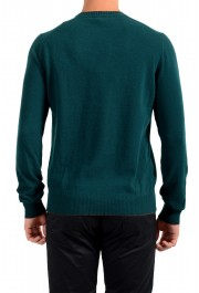 Moncler Men's Emerald Green 100% Wool Crewneck Sweater: Picture 3